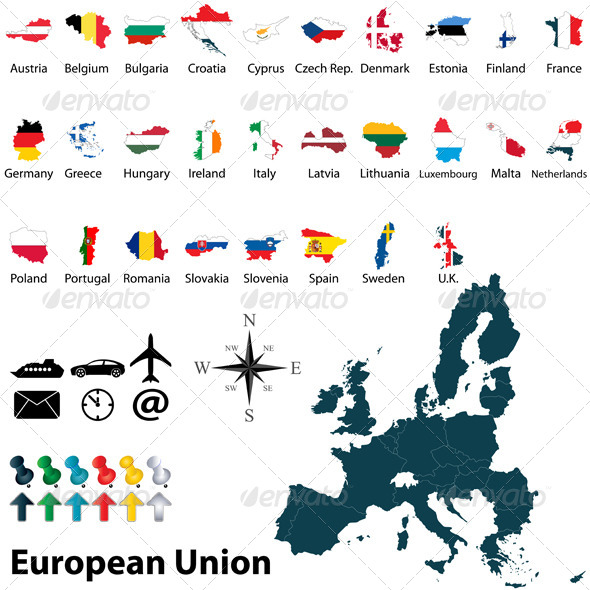 Maps of European Union - Travel Conceptual