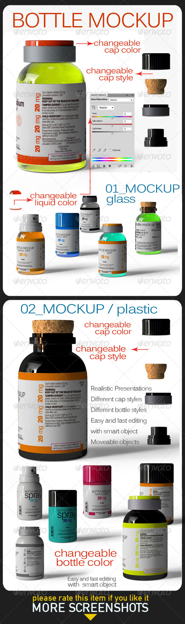 Bottle Mock Up - Product Mock-Ups Graphics