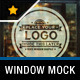 Photorealistic Glass Window Mock Up - GraphicRiver Item for Sale