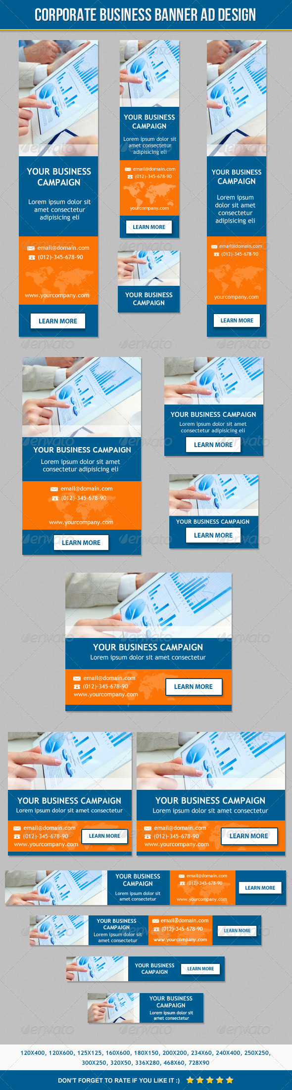 Corporate Business Banner ad Design - Banners & Ads Web Elements