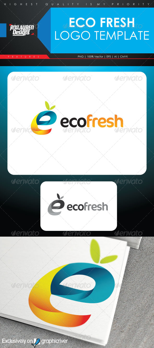 Eco Fresh Logo Template - Letters Logo Templates