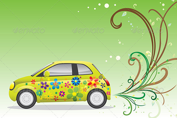 Green Car - Conceptual Vectors
