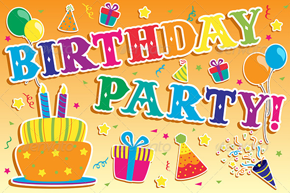 Birthday Party Invitation - Birthdays Seasons/Holidays
