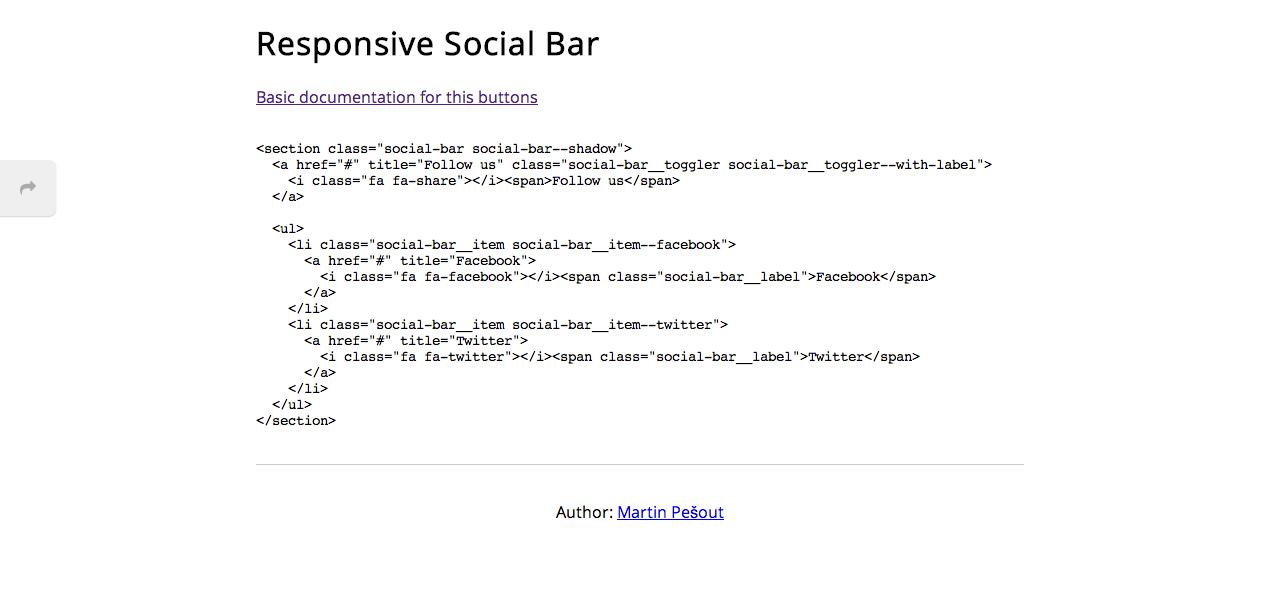 Responsive Social Bar
