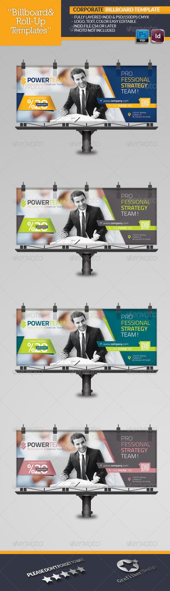 Corporate Billboard Template - Signage Print Templates
