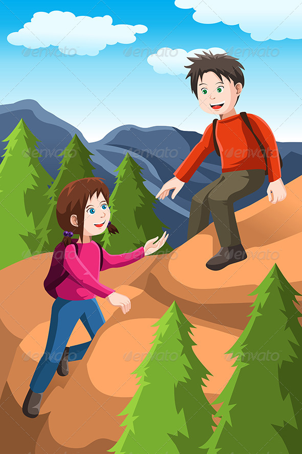 Kids Hiking - Sports/Activity Conceptual