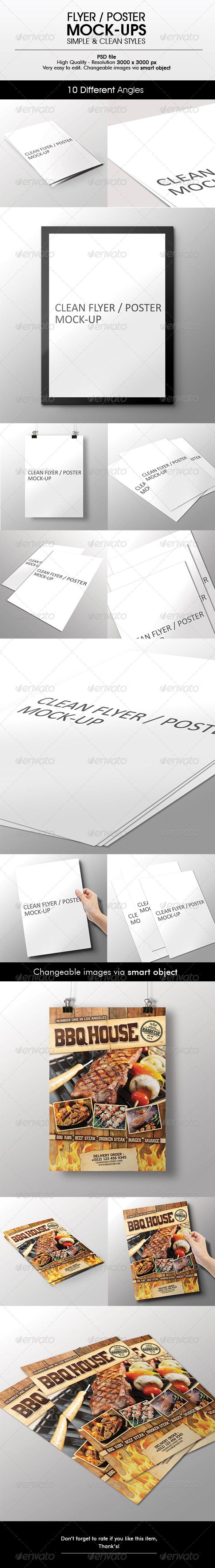 Flyer / Poster Mock-Up - Flyers Print