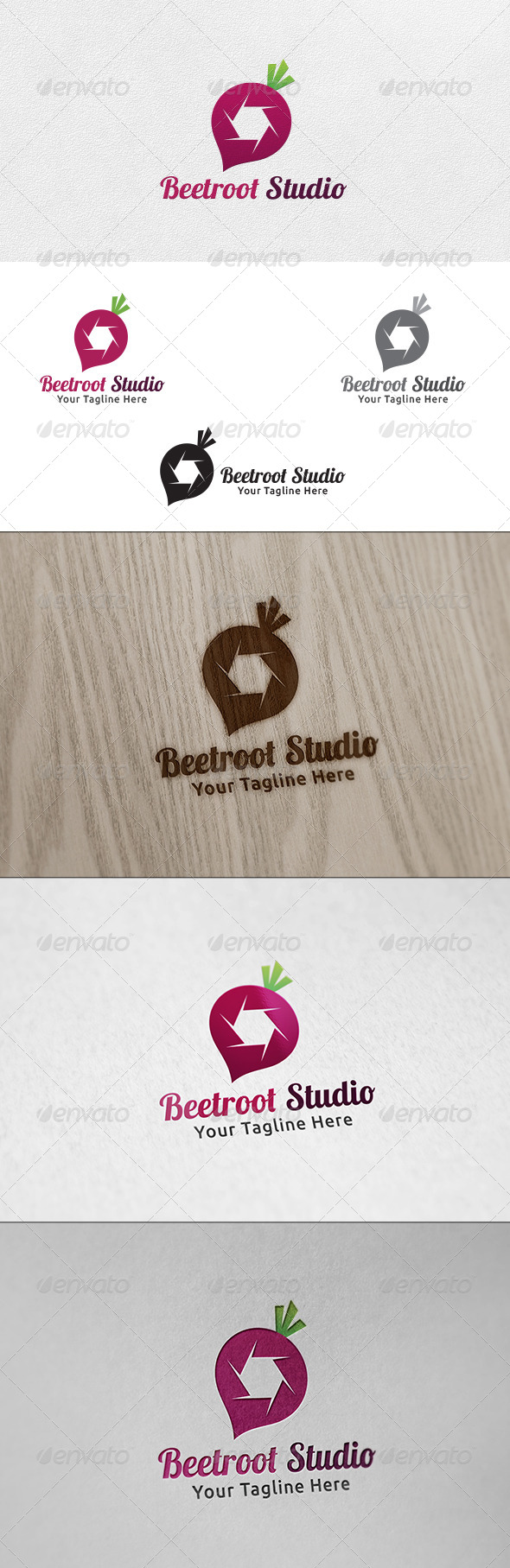 Beetroot Studio - Logo Template - Food Logo Templates
