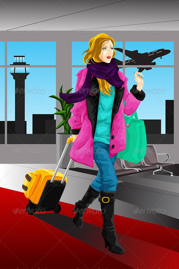 Traveling Woman - Travel Conceptual