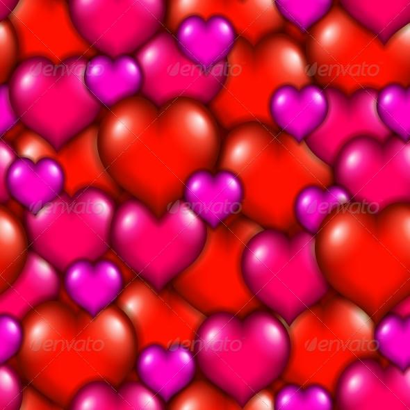 Seamless Heart Pattern - Valentines Seasons/Holidays
