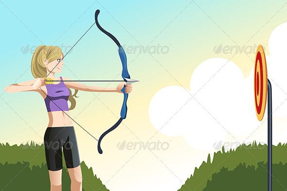 Archer Woman - Sports/Activity Conceptual