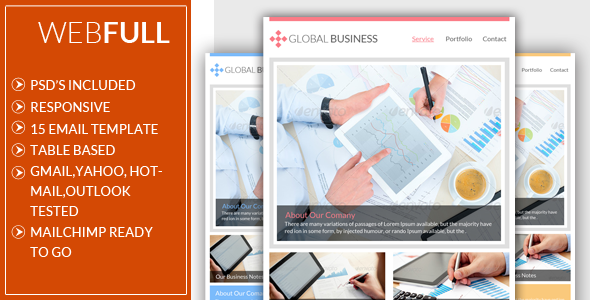Webful Global Business Email Template - Email Templates Marketing