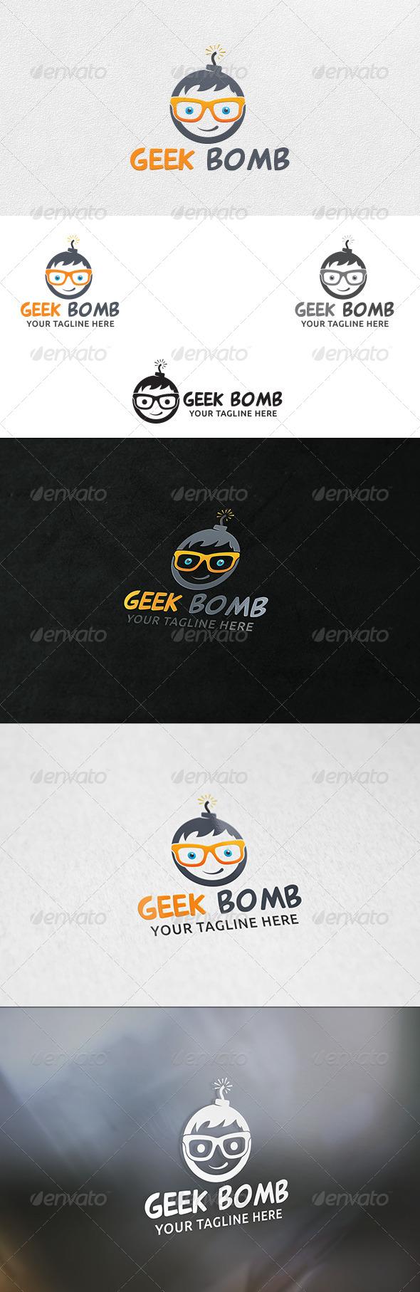 Geek Bomb V2 - Logo Template - Humans Logo Templates