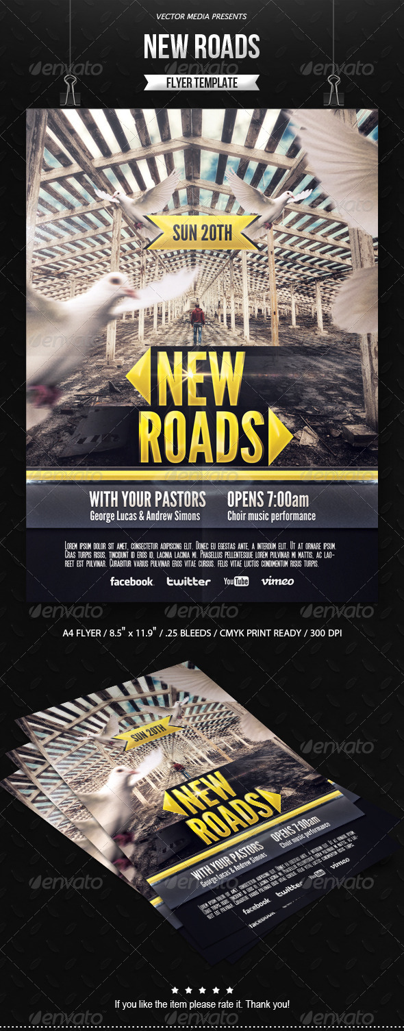 New Roads - Flyer - Church Flyers