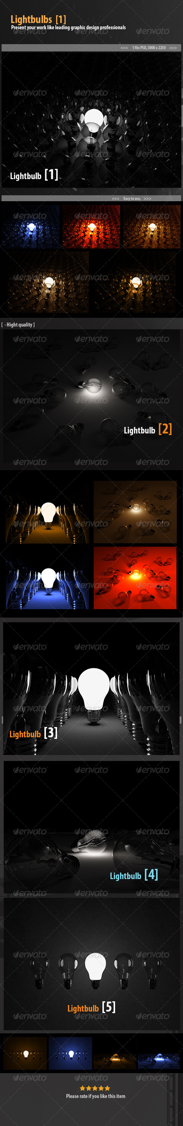 Lightbulbs - 3D Backgrounds