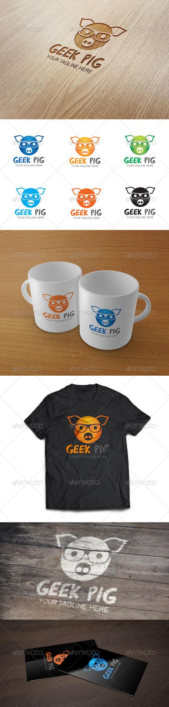 Geek Pig - Logo Template  - Animals Logo Templates
