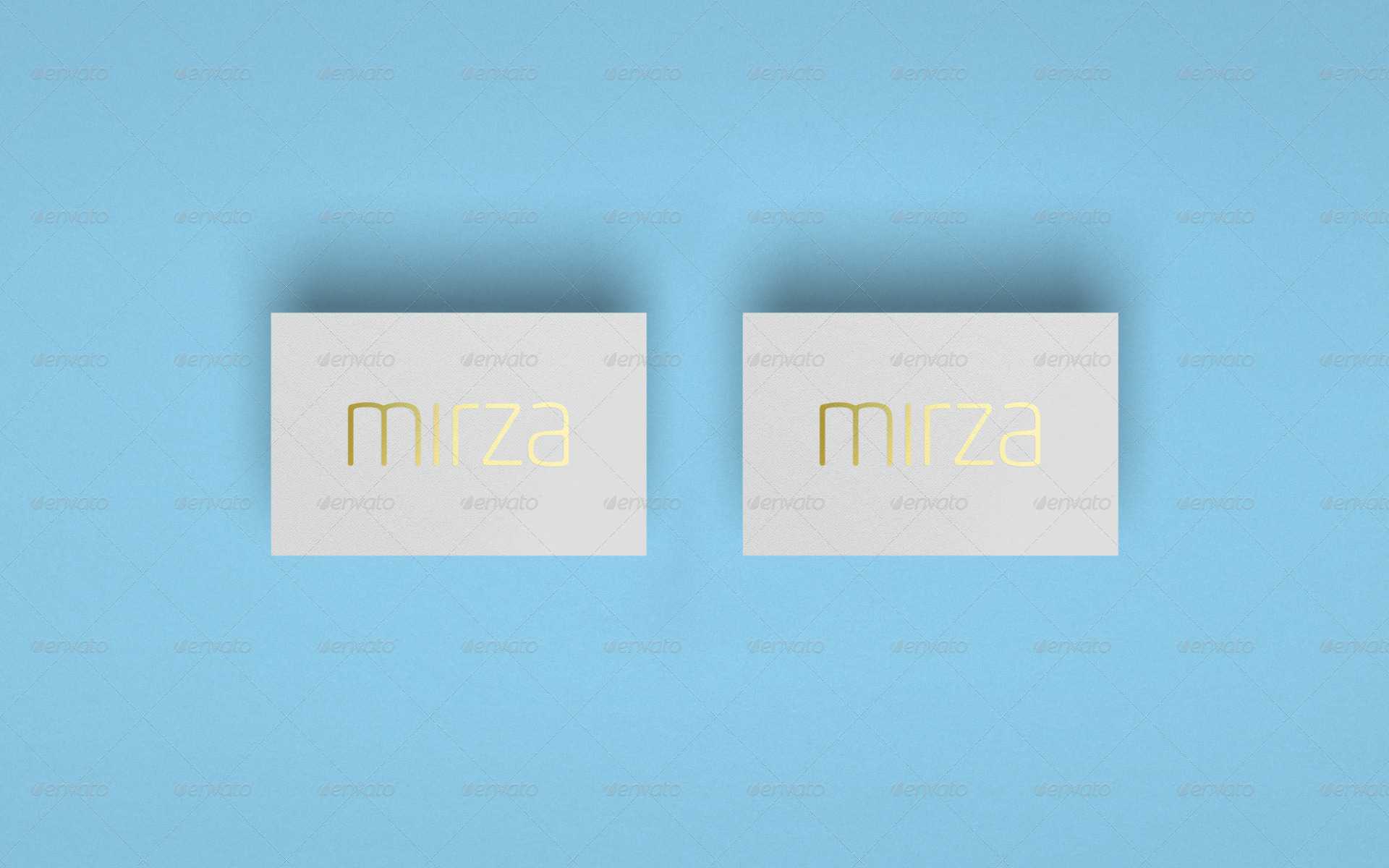 Realistic Luxe Business Card Mock Up by TheTasteBureau