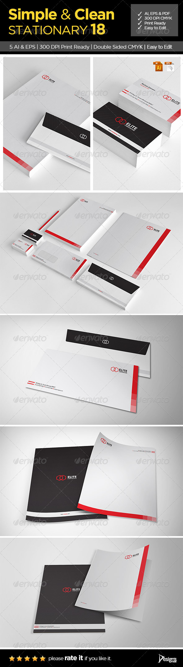 Simple and Clean Stationary 18 - Stationery Print Templates