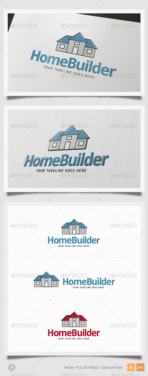 Home Builder Logo - Buildings Logo Templates