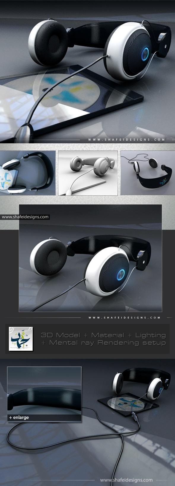 PC Headphone 3D Model - 3DOcean Item for Sale