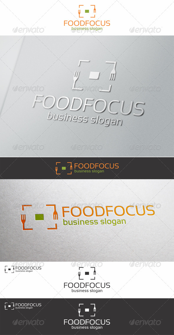 Food Focus Logo Template