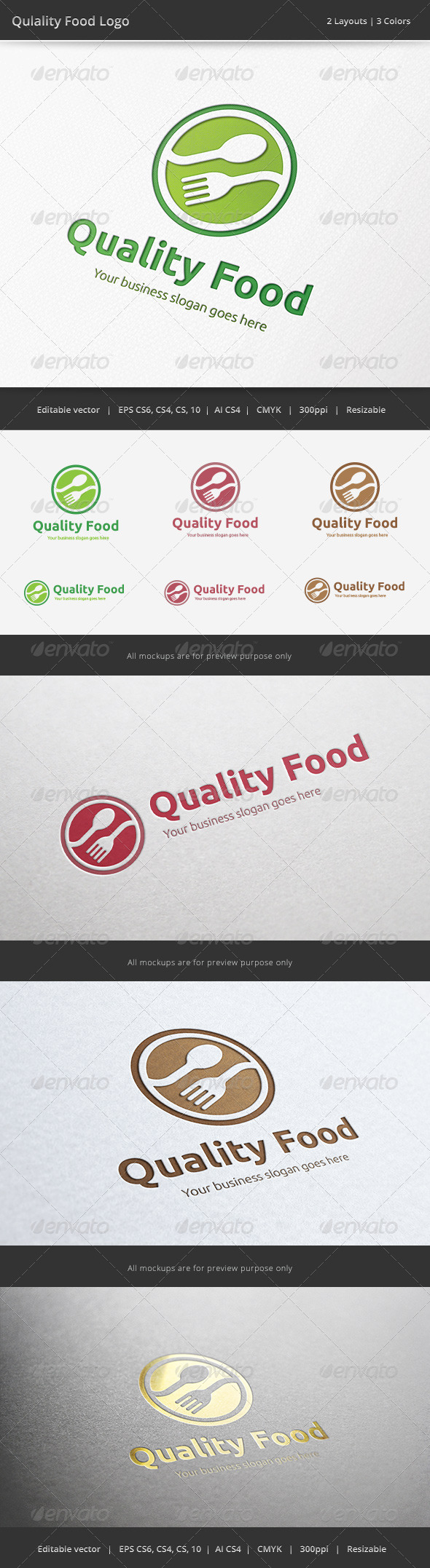 Quality Food Logo - Food Logo Templates