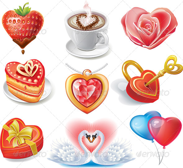 Heart-Shaped Set - Valentines Seasons/Holidays
