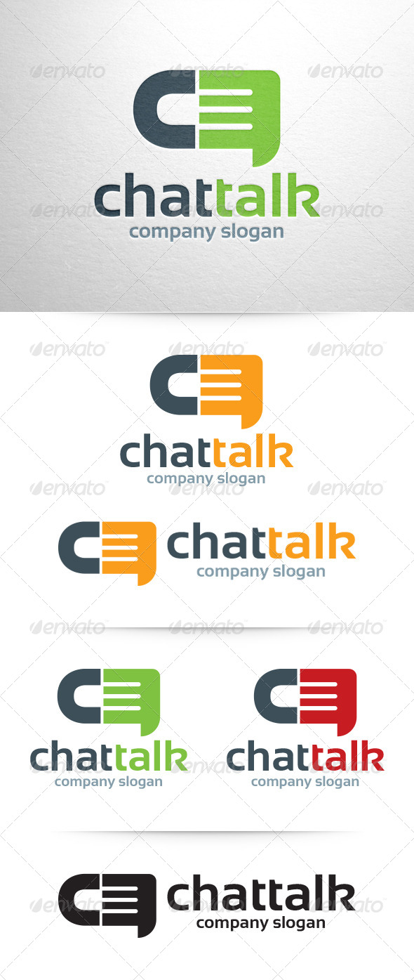 Chat Talk Logo Template - Letters Logo Templates