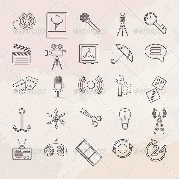 Universal Vector Icon Set. - Web Elements Vectors