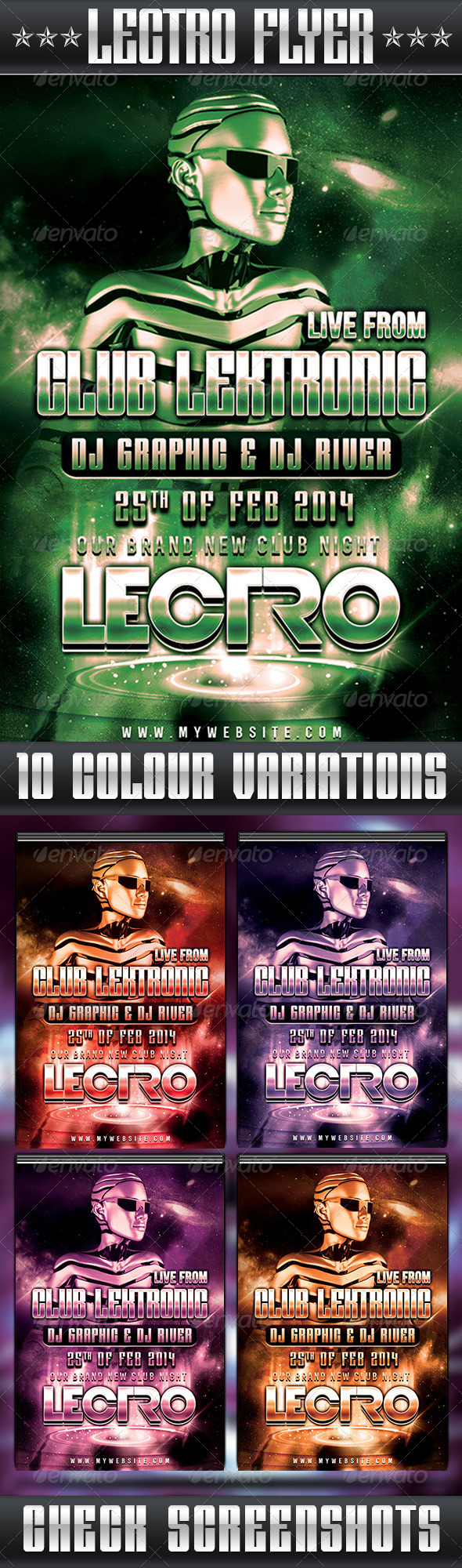 Lectro Flyer - Clubs & Parties Events
