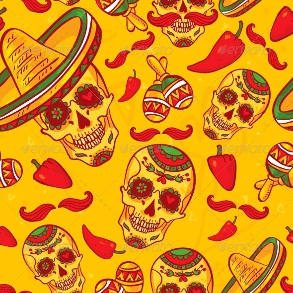 Cinco De Mayo Seamless Pattern  - Patterns Decorative