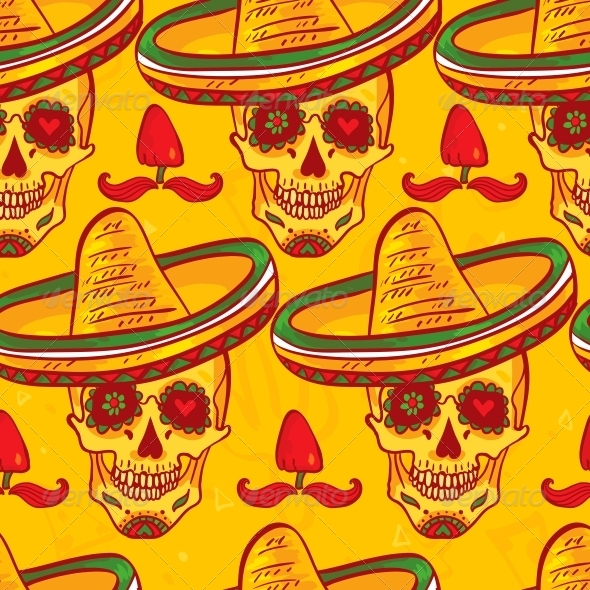 Cinco De Mayo Seamless Pattern  - Patterns Decorative