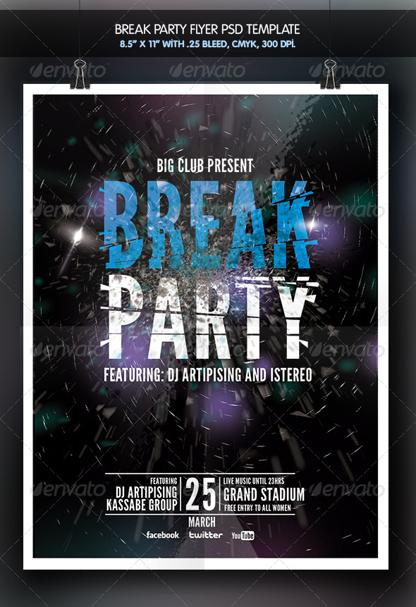 Break Party Flyer - Clubs & Parties Events