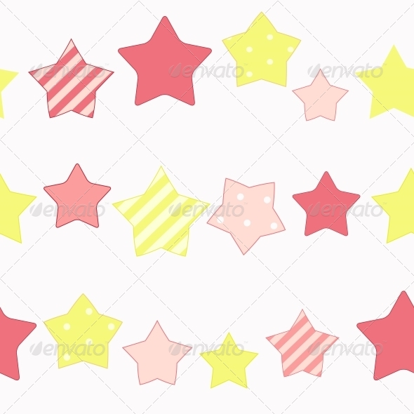 Cute Star Seamless Pattern Background Vector Illus - Patterns Backgrounds
