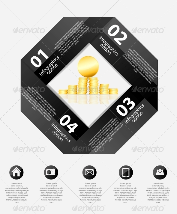 Infographic Business Template Vector Illustration - Web Technology