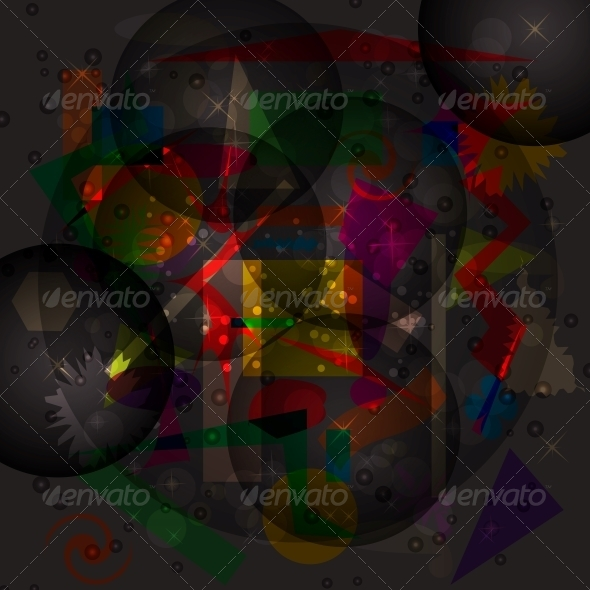 Abstract Hypnotic Background - Vector  - Abstract Backgrounds