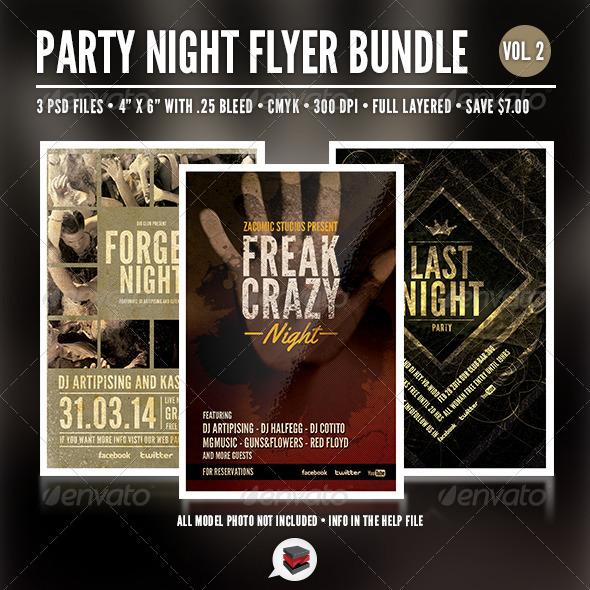 Party Flyer Bundle Vol. 2 - Clubs & Parties Events