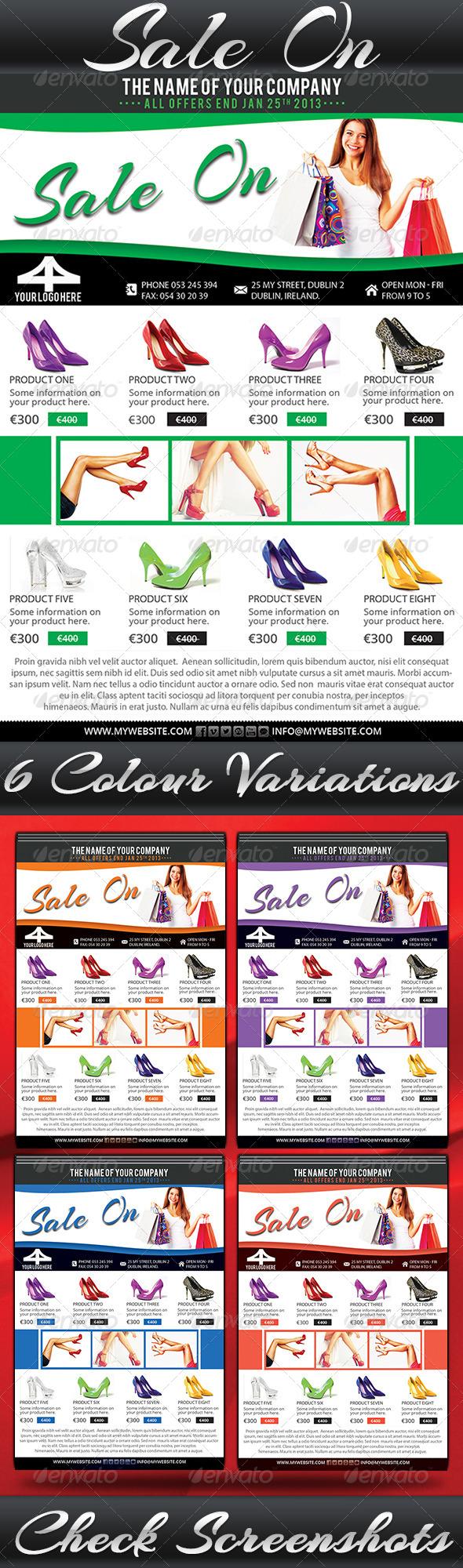 Sale On Flyer - Flyers Print Templates