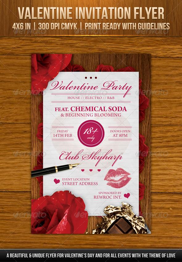 Valentine Invitation Flyer - Holidays Events