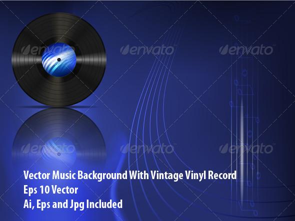 Vinyl Record - Conceptual Vectors