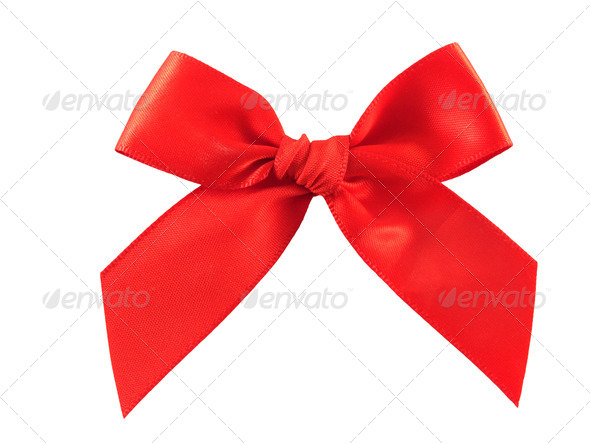 Decorative Red Bow - Stock Photo - Images