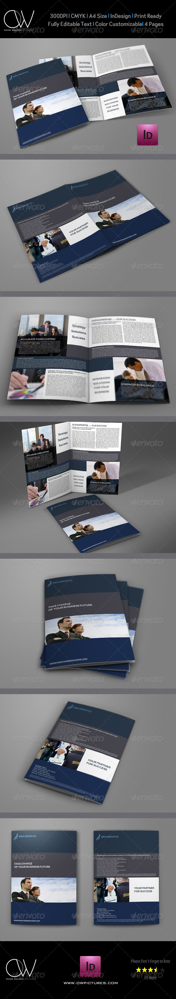 Company Brochure Bi-Fold Template Vol.14 - Corporate Brochures