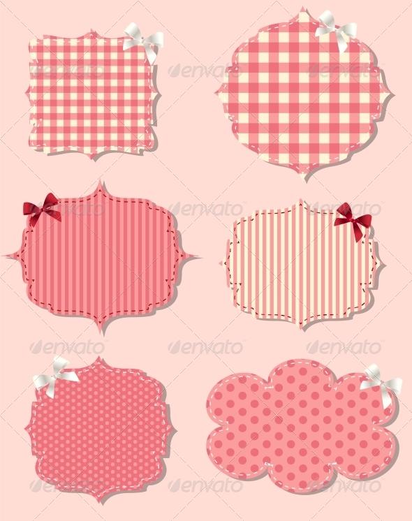 Set of Different Valentine`s Day Labels - Decorative Symbols Decorative