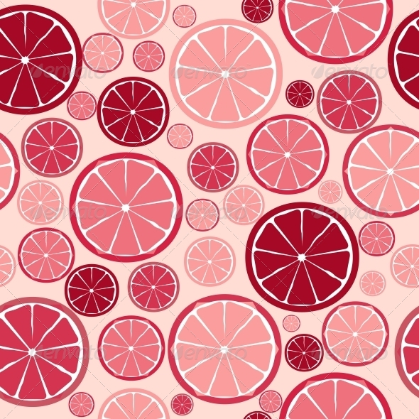 Fruit Design Seamless Pattern. Vector Illustration - Seasons Nature