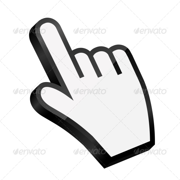 Mouse Hand Cursor Vector Illustration - Computers Technology