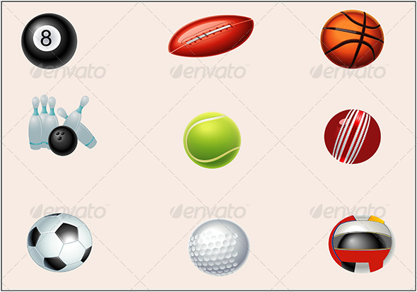 Sports Icon Set - Sports/Activity Conceptual