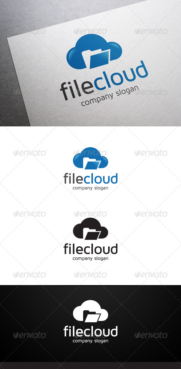 File Cloud Logo - Objects Logo Templates