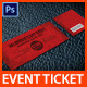 Valentine's Event Ticket - GraphicRiver Item for Sale