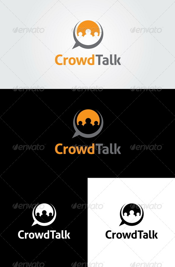 Crowd Talk  Logo Template - Humans Logo Templates