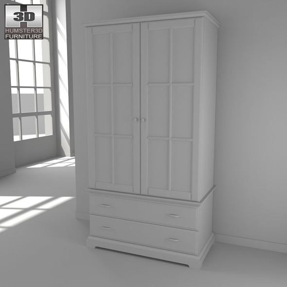 ikea birkeland wardrobe 3d model by humster3d 3docean. Black Bedroom Furniture Sets. Home Design Ideas